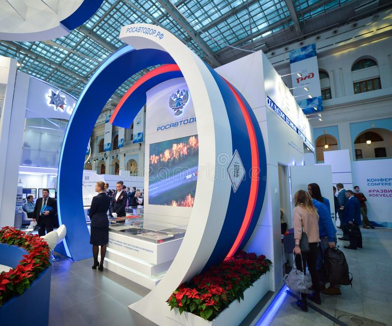 Rosavtodor-Stand bei TransRussia 2016 stockfotos