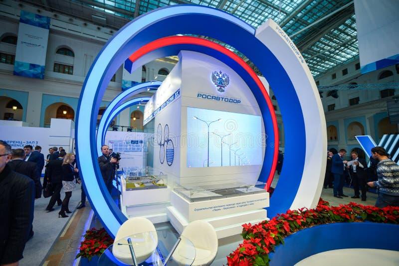 Rosavtodor-Stand bei TransRussia 2016 lizenzfreie stockbilder