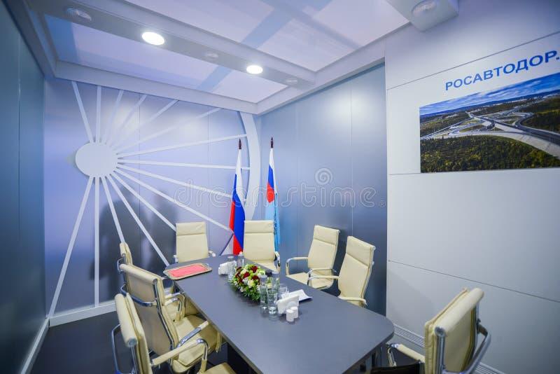 Rosavtodor-Stand bei TransRussia 2016 lizenzfreies stockbild
