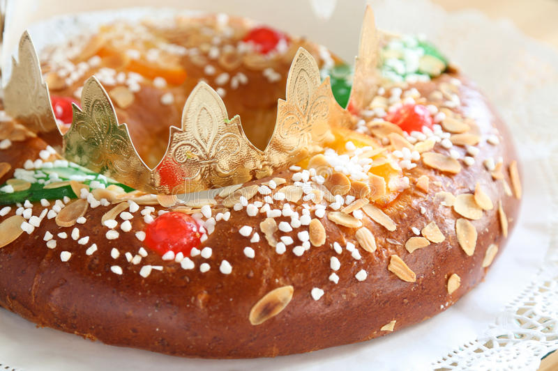 Roscón de reyes. stock photos