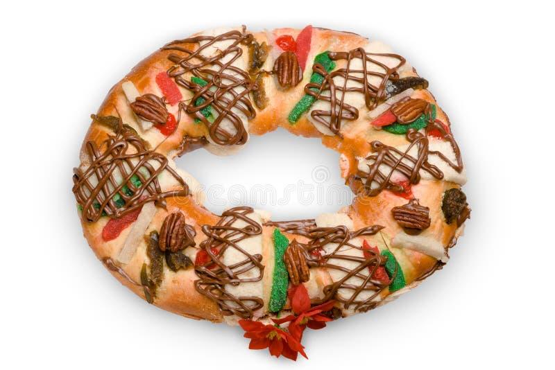 Rosca de Reyes, gâteau d'épiphanie, rois durcissent, Roscon de Reyes photo stock