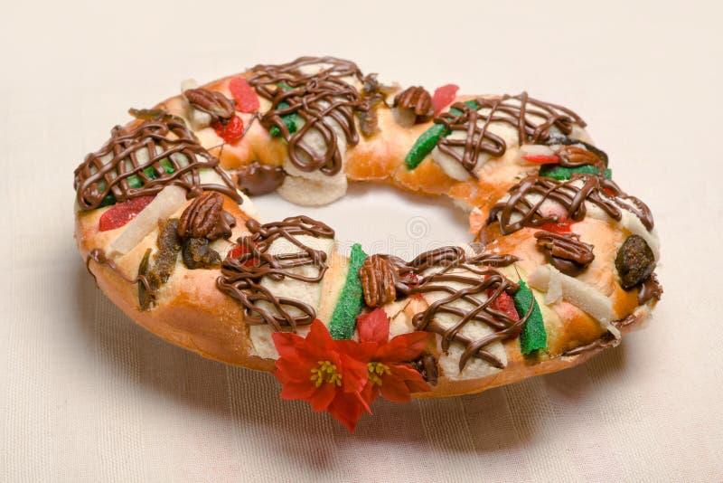 Rosca de Reyes, gâteau d'épiphanie, rois durcissent, Roscon de Reyes photos libres de droits