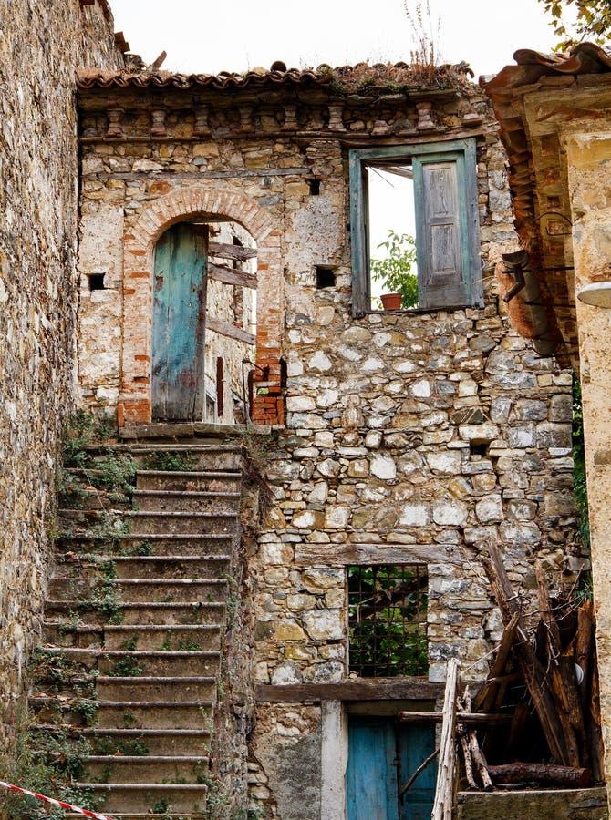 Roscigno Vecchio - Ghost town in Cilento. Roscigno Vecchio - old abandoned village in Cilento, Campania, italy stock images