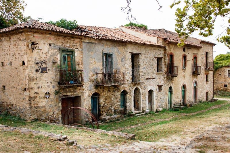 Roscigno Vecchio - Ghost town in Cilento. Roscigno Vecchio - old abandoned village in Cilento, Campania, italy stock photo