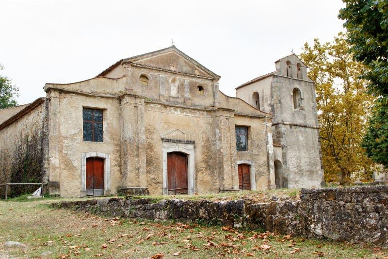 Roscigno Vecchio - Ghost town in Cilento. Roscigno Vecchio - old abandoned village in Cilento, Campania, italy royalty free stock photos