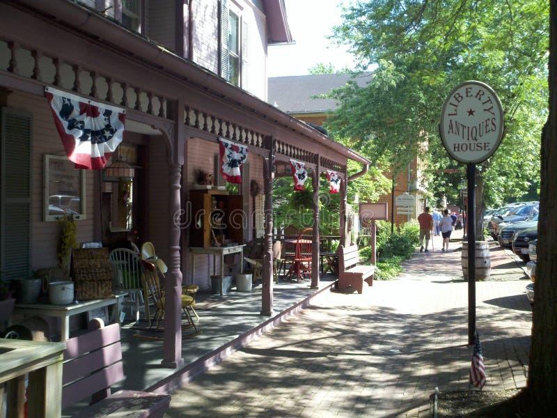 Roscoe Village Coshocton, Ohio foto de archivo libre de regalías