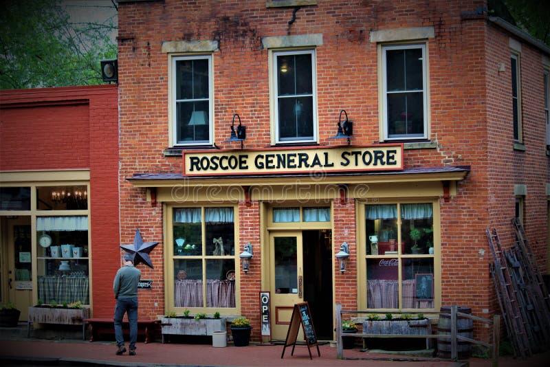 Roscoe Village Ohio stock foto
