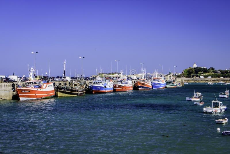 Roscoff Finistère, Brittany, Frankrike arkivbilder