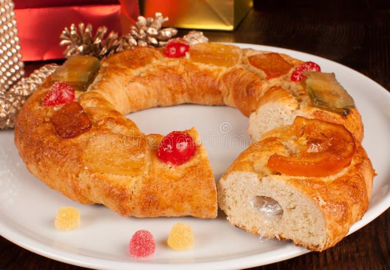 Roscon de Reyes stock photography