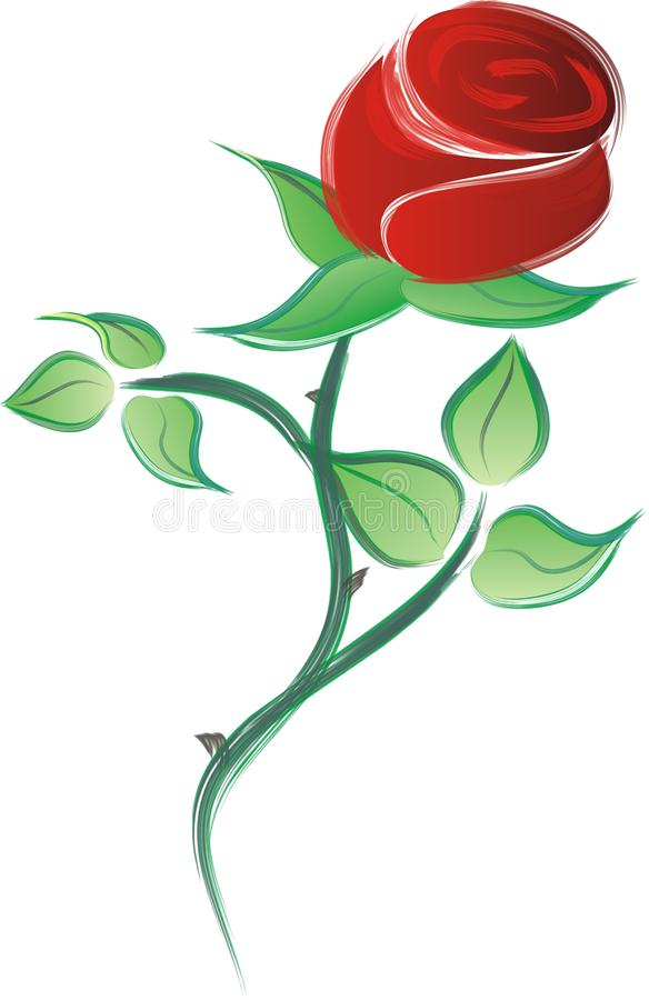 Rose ilustración del vector