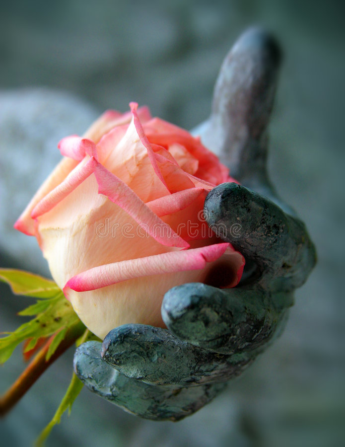 Download Rose stock photo. Image of statue, flower, closeup, hand - 19764
