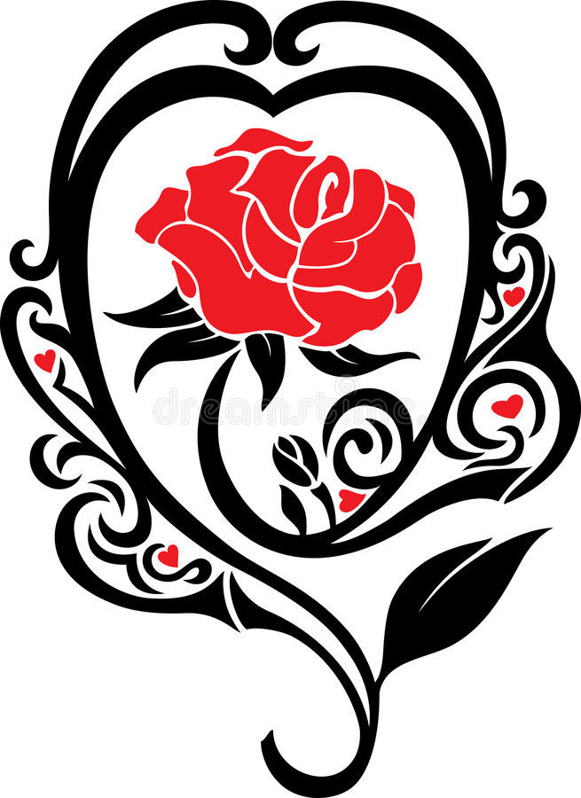 Download The rose stock vector. Image of beautiful, style, beauty - 7204550