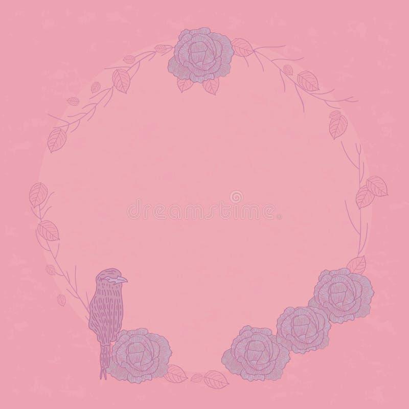 Rose abstract bird vector illustration