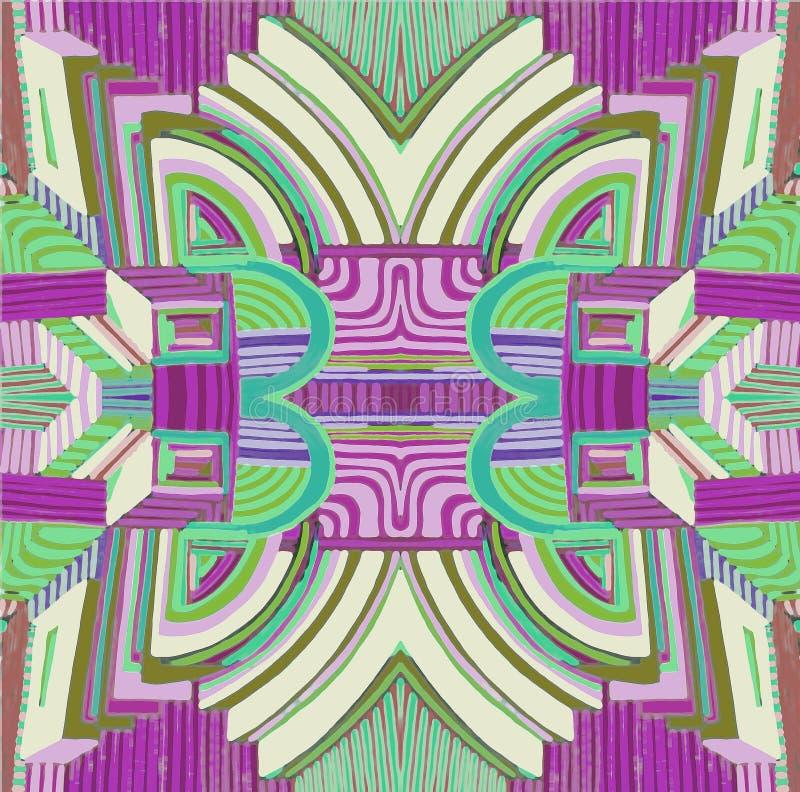 Rose abstrait et fond de couleurs en pastel illustration stock