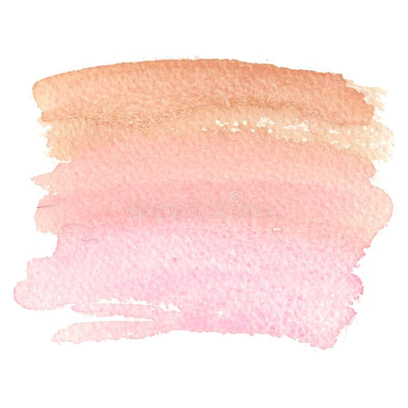 Rose abstrait grunge d'aquarelle de peinture de brosse de fond illustration de vecteur