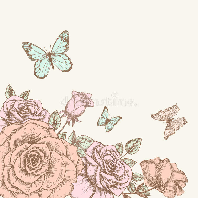 Free Rose And Butterfly 1 Royalty Free Stock Photo - 30215255