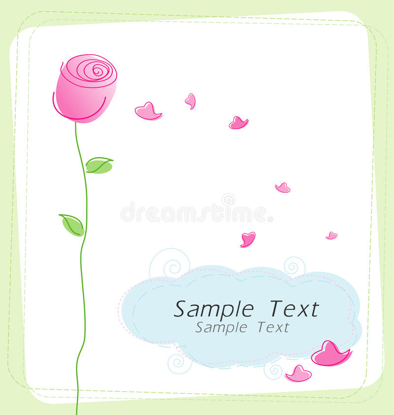 Free Rose And Hearts Stock Photography - 23580372