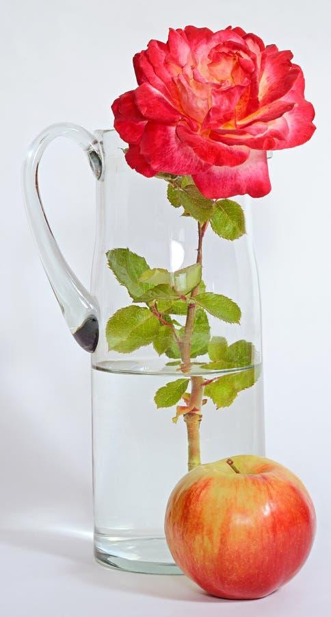 Rose Apple-Dekantiergefäßwasser stockbild