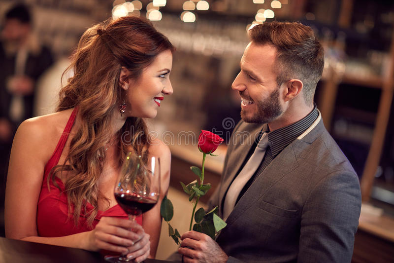 Rose for attractive lady royalty free stock images