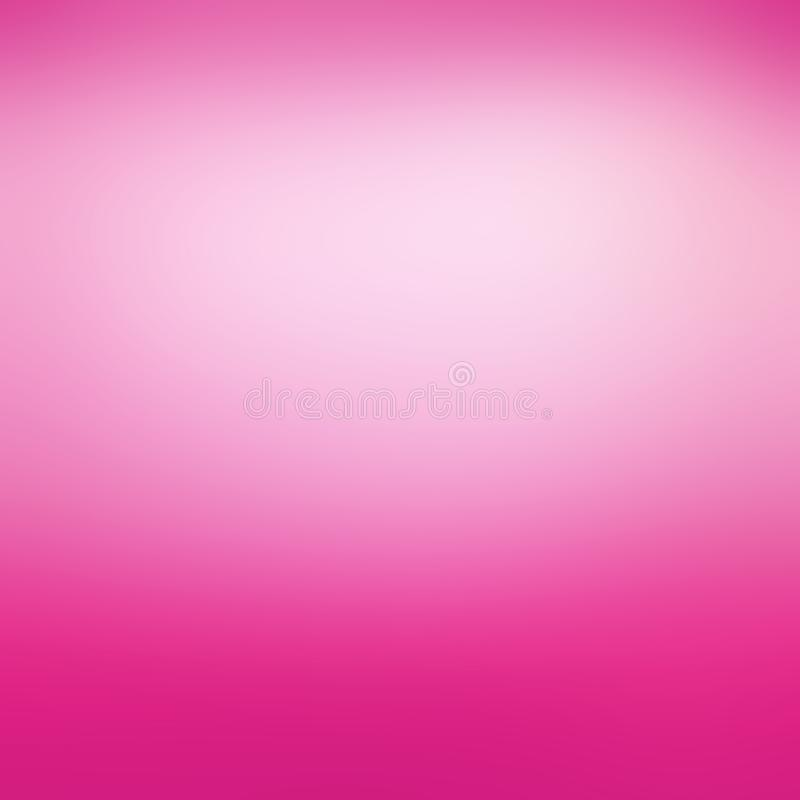 Rose au néon chaud et fond blanc mou avec le centre nuageux et l'effet brouillé de conception, fond abstrait gai audacieux illustration de vecteur