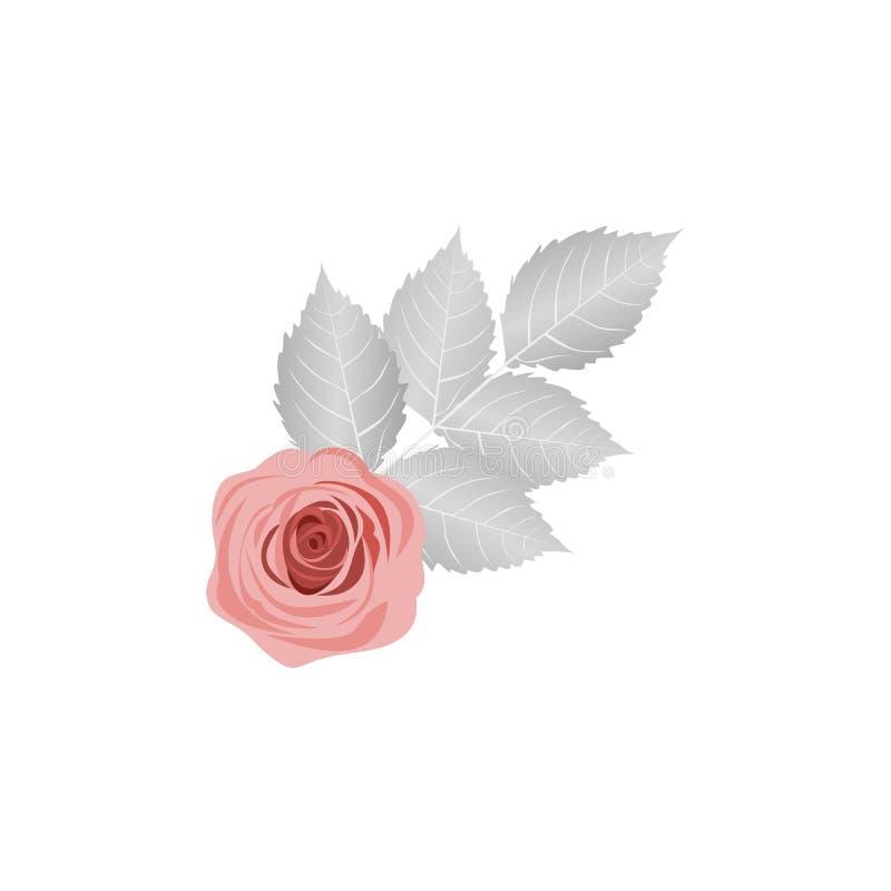 Rose avec un brin d'illustration illustration stock