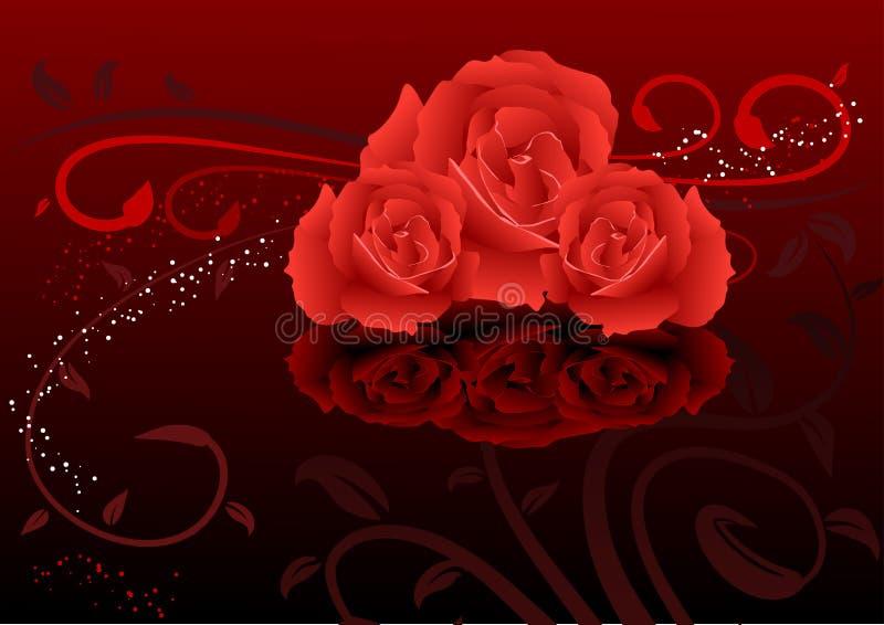 Rose background vector illustration