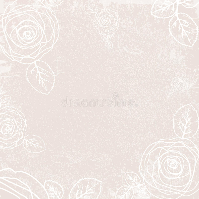 Rose Background d'annata astratta royalty illustrazione gratis