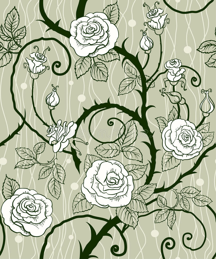 Download Rose background seamless stock vector. Image of fairy - 21490441