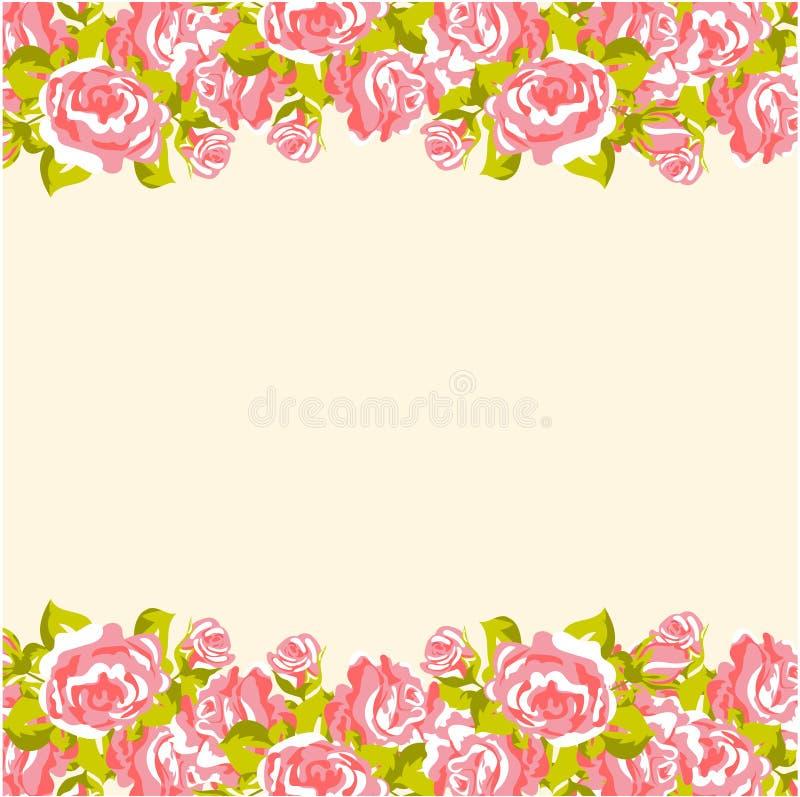 Rose background royalty free illustration