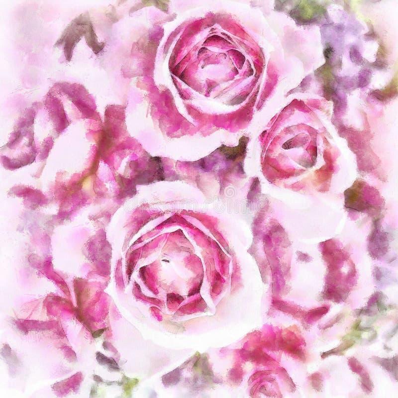 Rose Beautiful Purple ilustración del vector