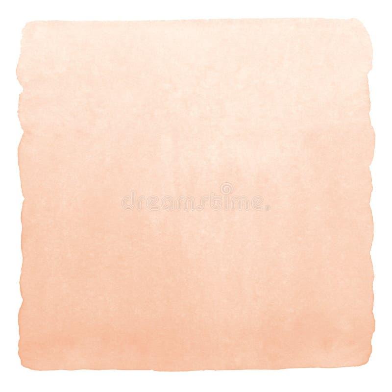 Rose beige, fondo de la pendiente de la acuarela del color de piel imagen de archivo