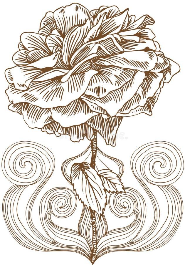 Download Rose Bloom Artistic stock vector. Image of flowers, petal - 9363012