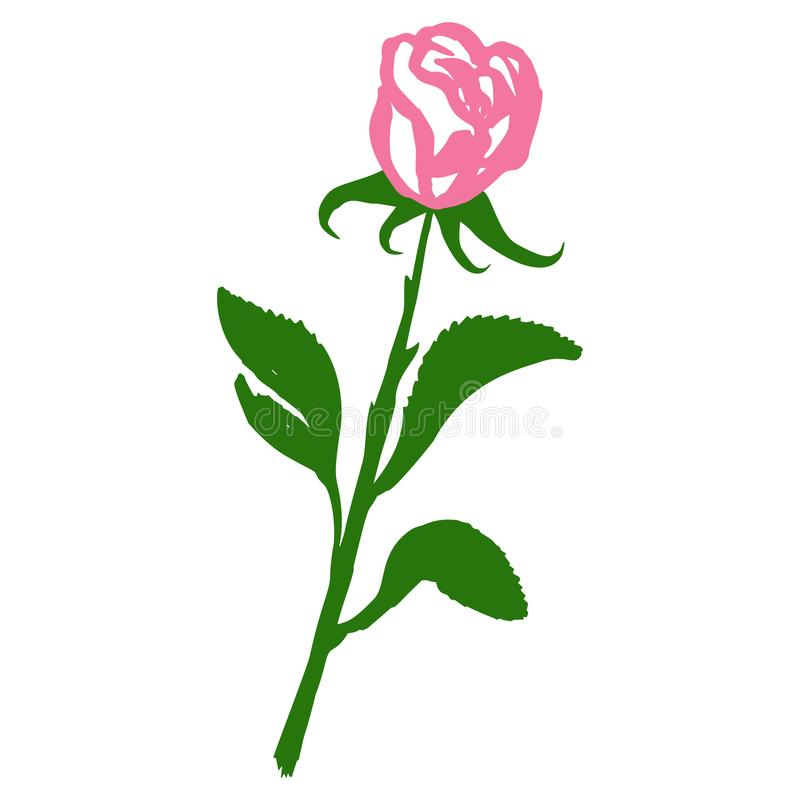 Rose blossom tattoo graphic art symbol flower isolated abstract royalty free stock photo