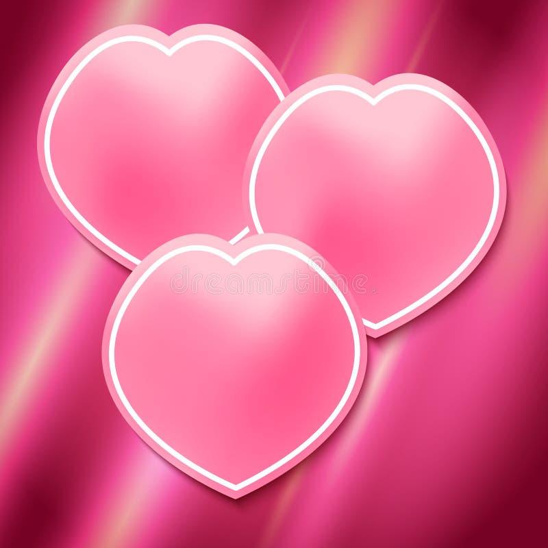 Rose-Blumenblatt-Seite-Broschüre-Schablone-hell-rosa-Hintergrund vektor abbildung