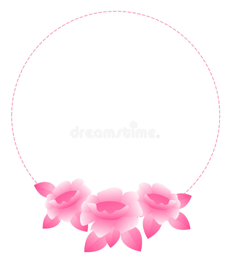 Rose border royalty free illustration