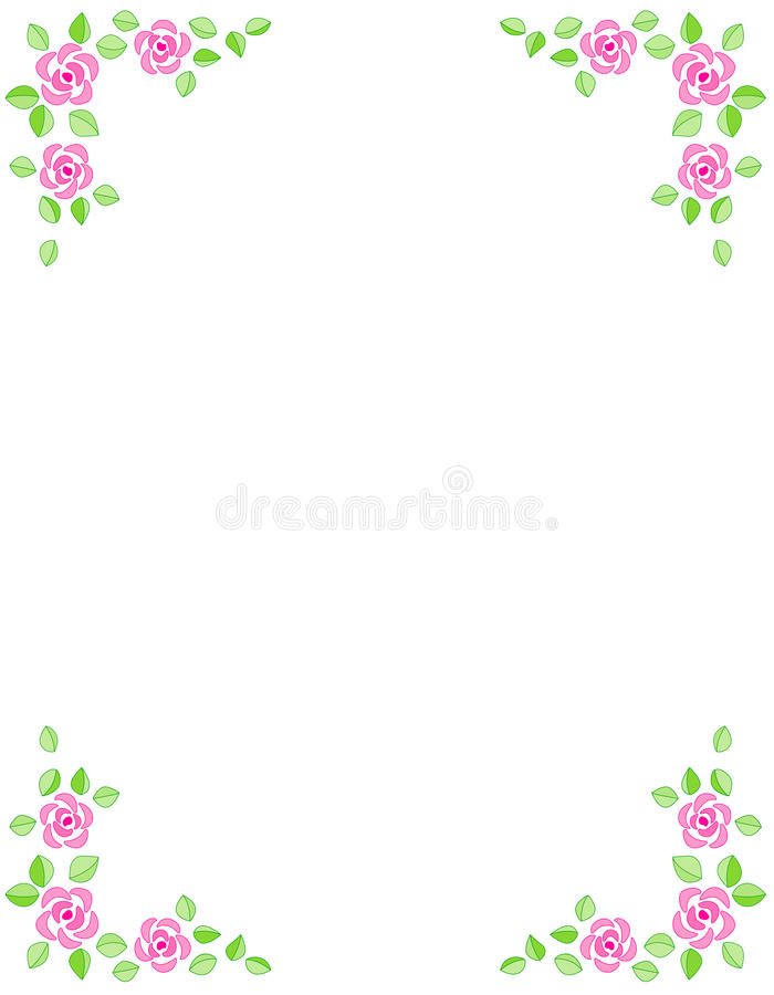 Download Rose Border / Wedding Invitation Stock Vector - Illustration: 14583666