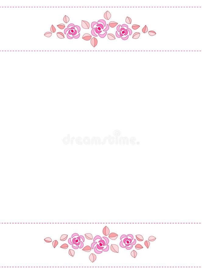 Rose Border / Wedding Invitation Stock Illustration - Illustration ...