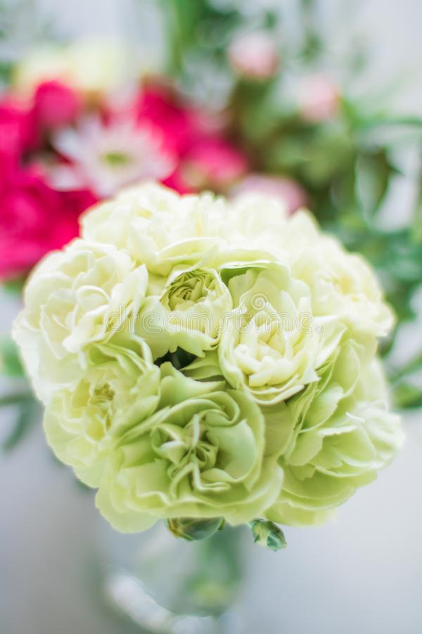 Rose bouquet decor - wedding, holiday and floral garden styled concept. Elegant visuals royalty free stock images