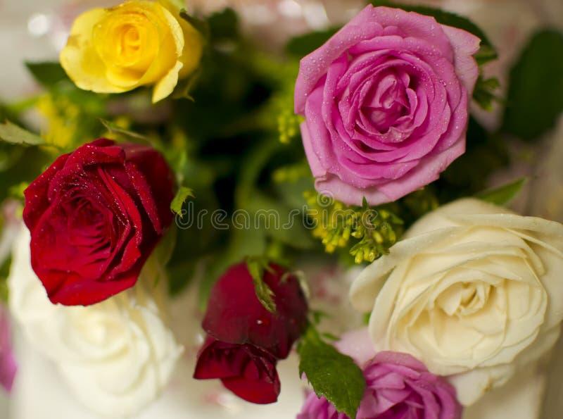 Rose Bouquet multicolore photographie stock libre de droits