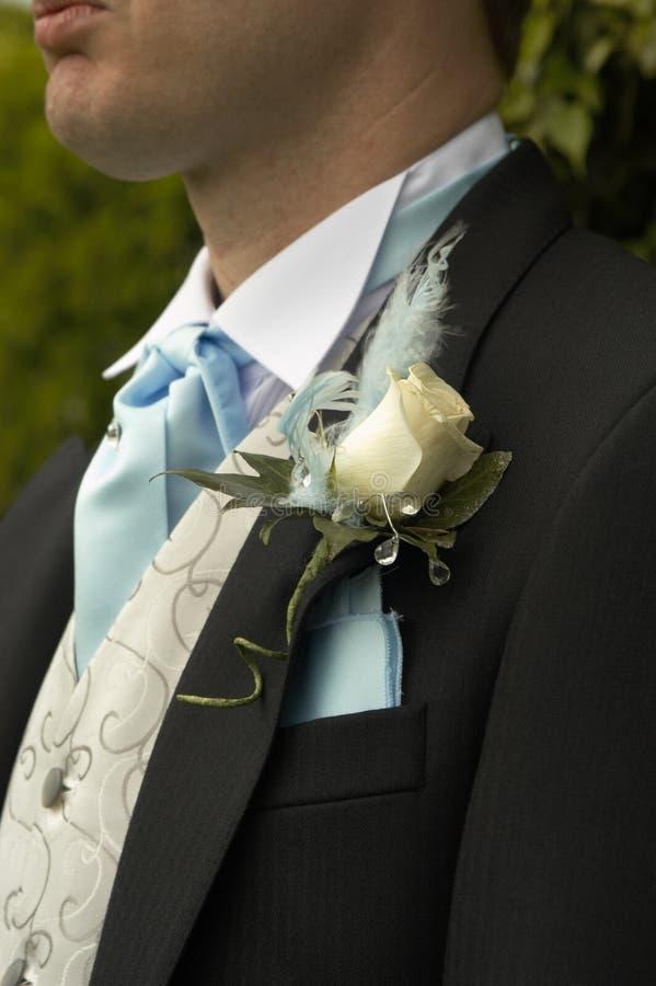 rose boutonniere white zdjęcia stock