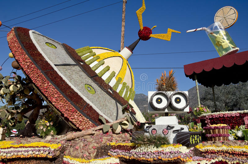 Rose Bowl Parade Float fotografia stock