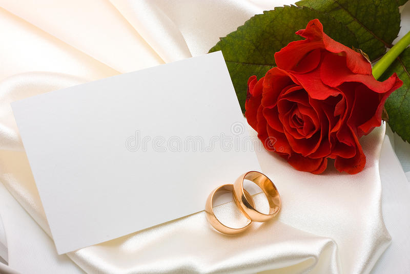 rose bröllop för kortcirklar royaltyfria foton
