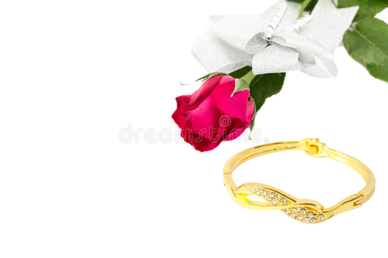 Rose and Bracelet royalty free stock photography