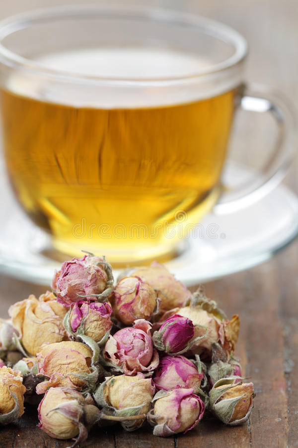 Rose bud tea royalty free stock photo