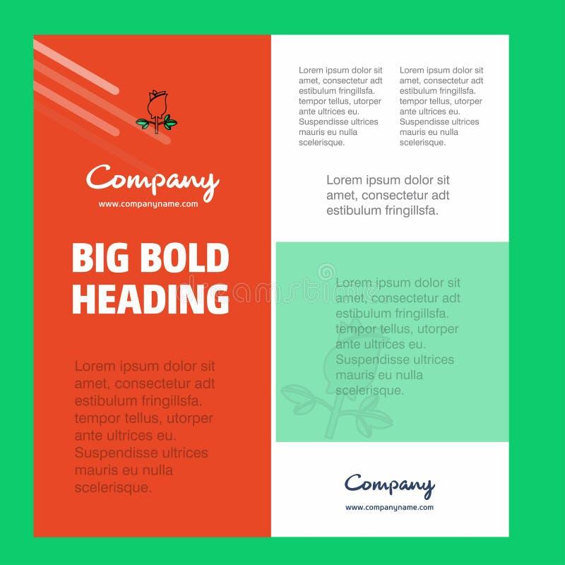 Rose Business Company Poster Template con el lugar para el texto y las imágenes Fondo del vector libre illustration