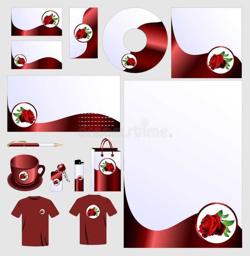 Rose business set vector vector illustration