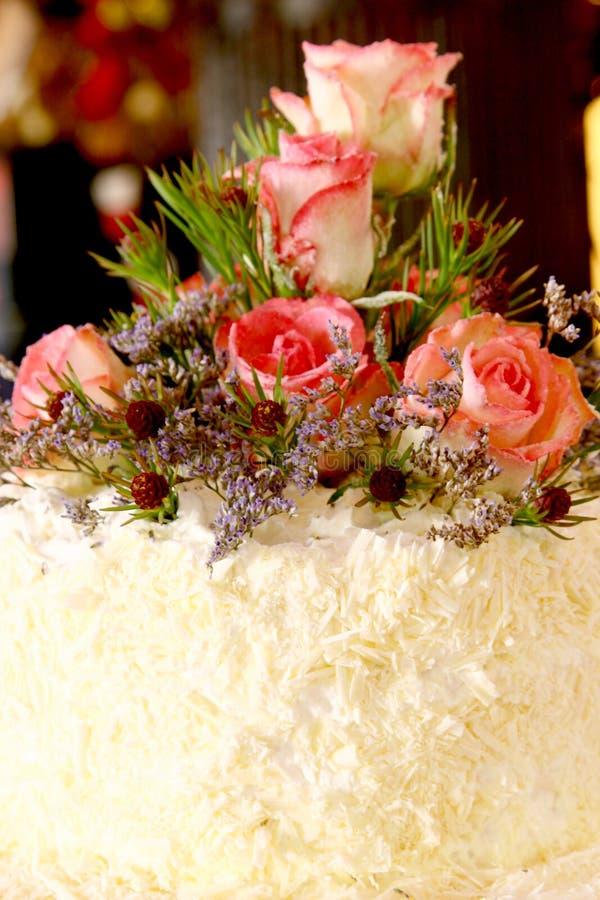 Rose Cake stock photography