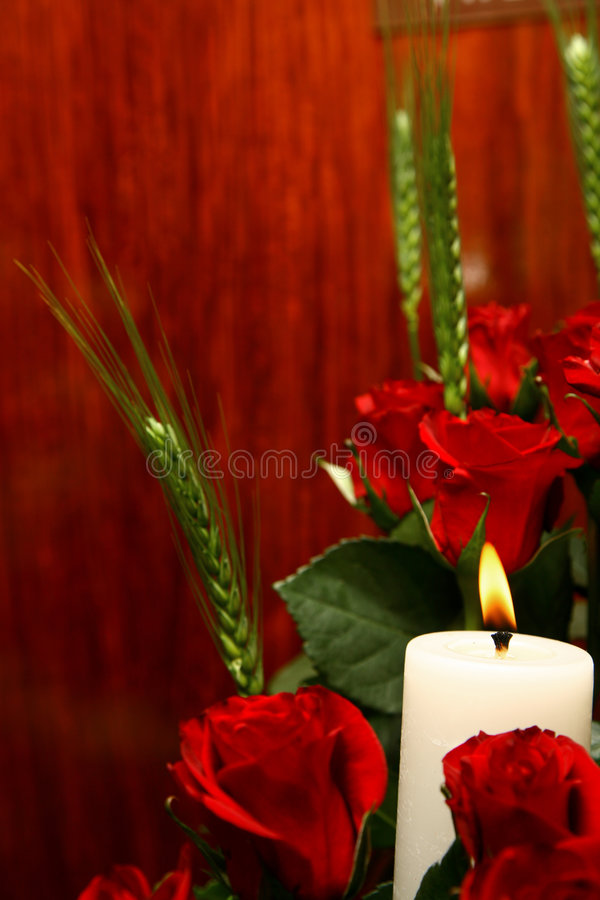 Rose Candle stock images
