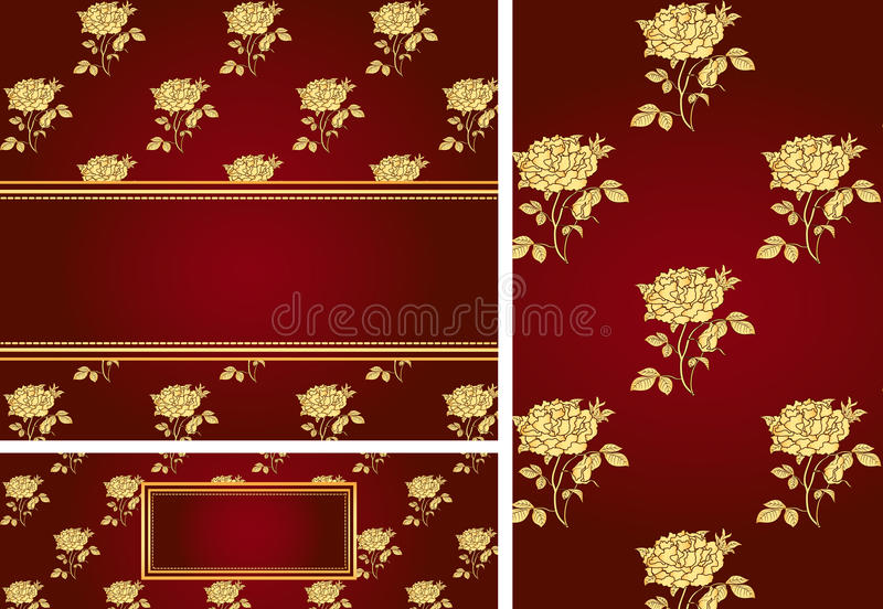 Rose card collection stock illustration