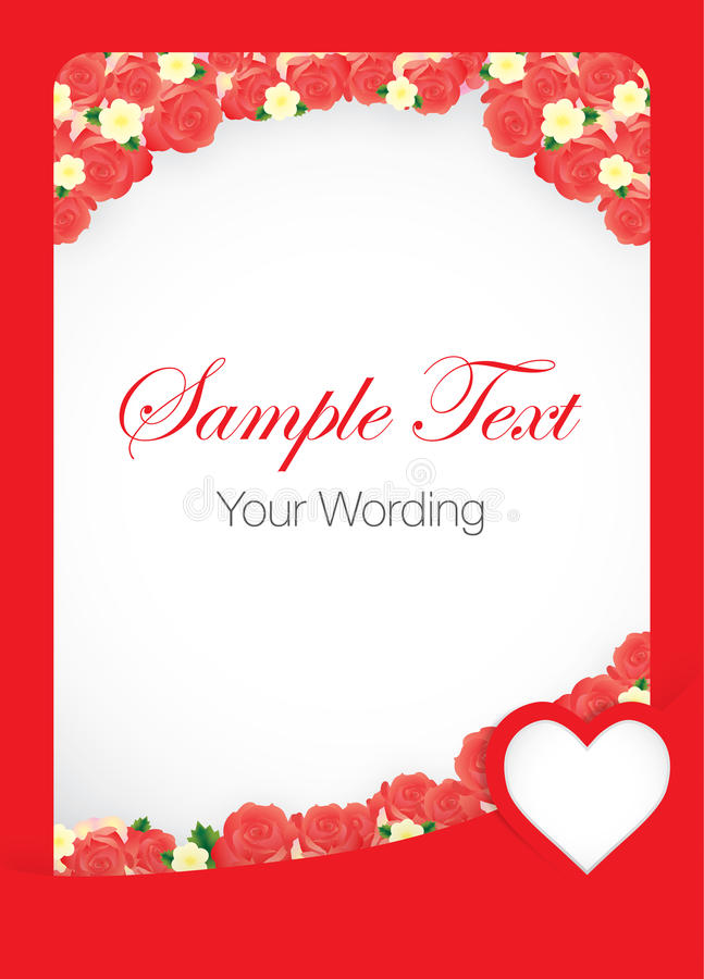 Rose Card Template roja libre illustration